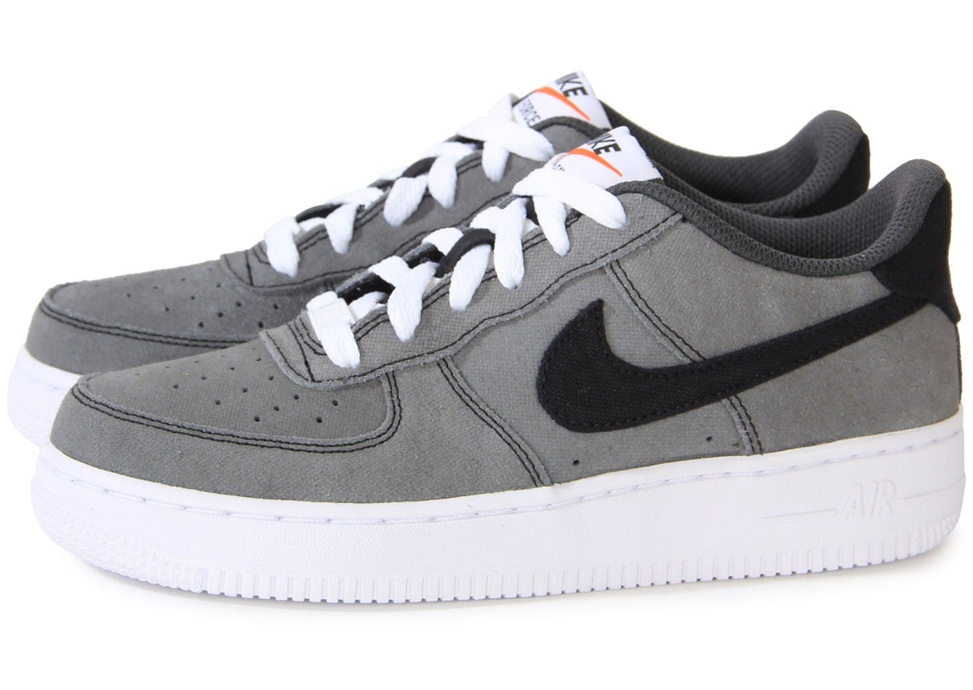 info pour 3bcbe 16698 Nike Air Force 1 Low Grise Gs - Chaussures Chaussures ...