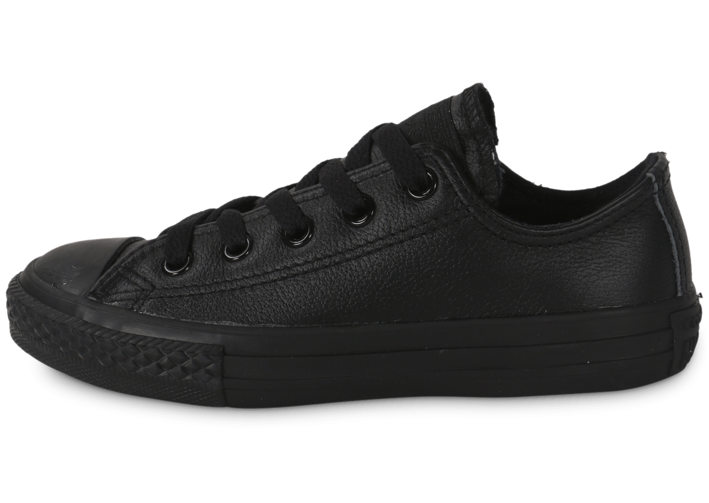Converse Chuck Taylor All Star low enfant cuir noir