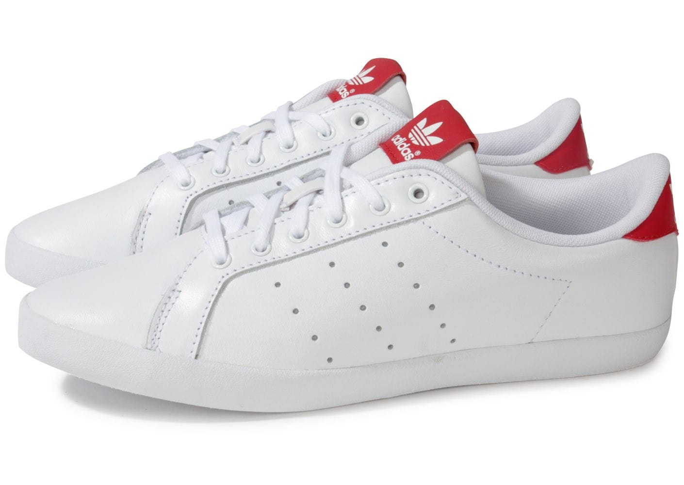 adidas Miss Stan blanche rouge Chaussures adidas Chausport
