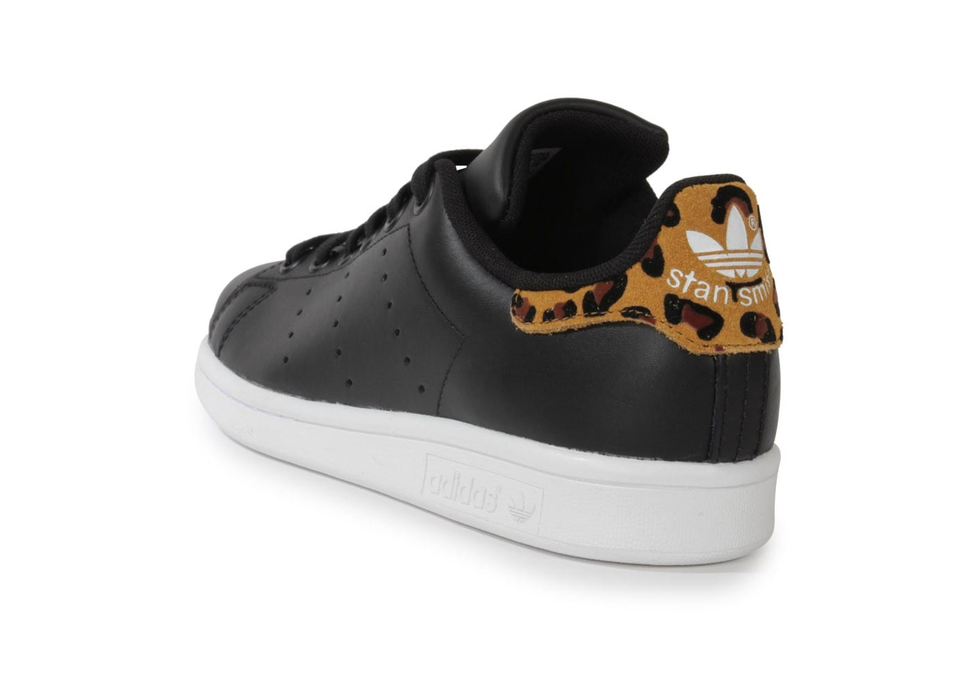 Adidas Smith Chausport Noire Stan Chaussures Leopard Animal 6rw6q5