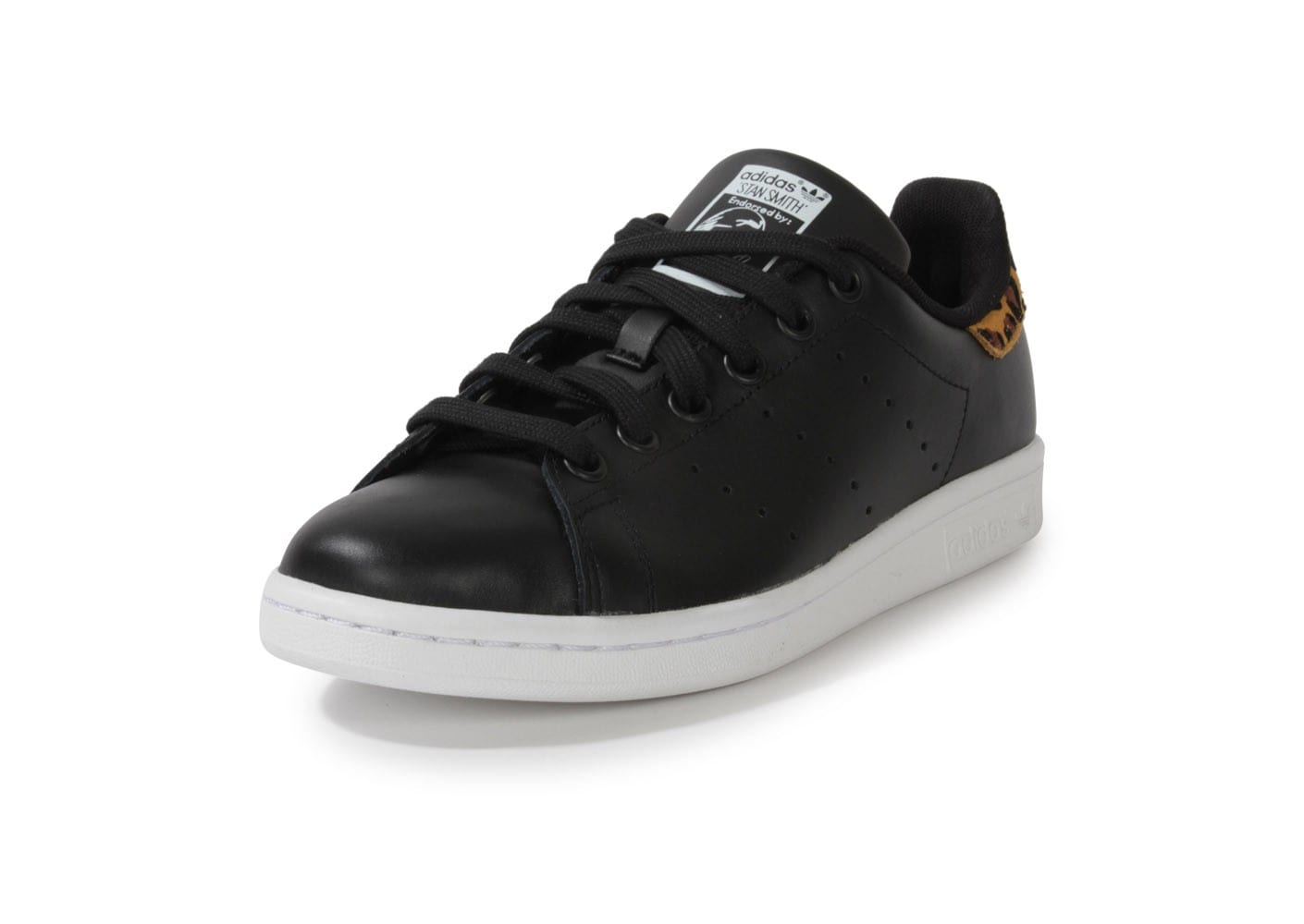 chaussures de sport af6aa a57ca adidas Stan Smith Noire Animal Leopard - Chaussures adidas ...