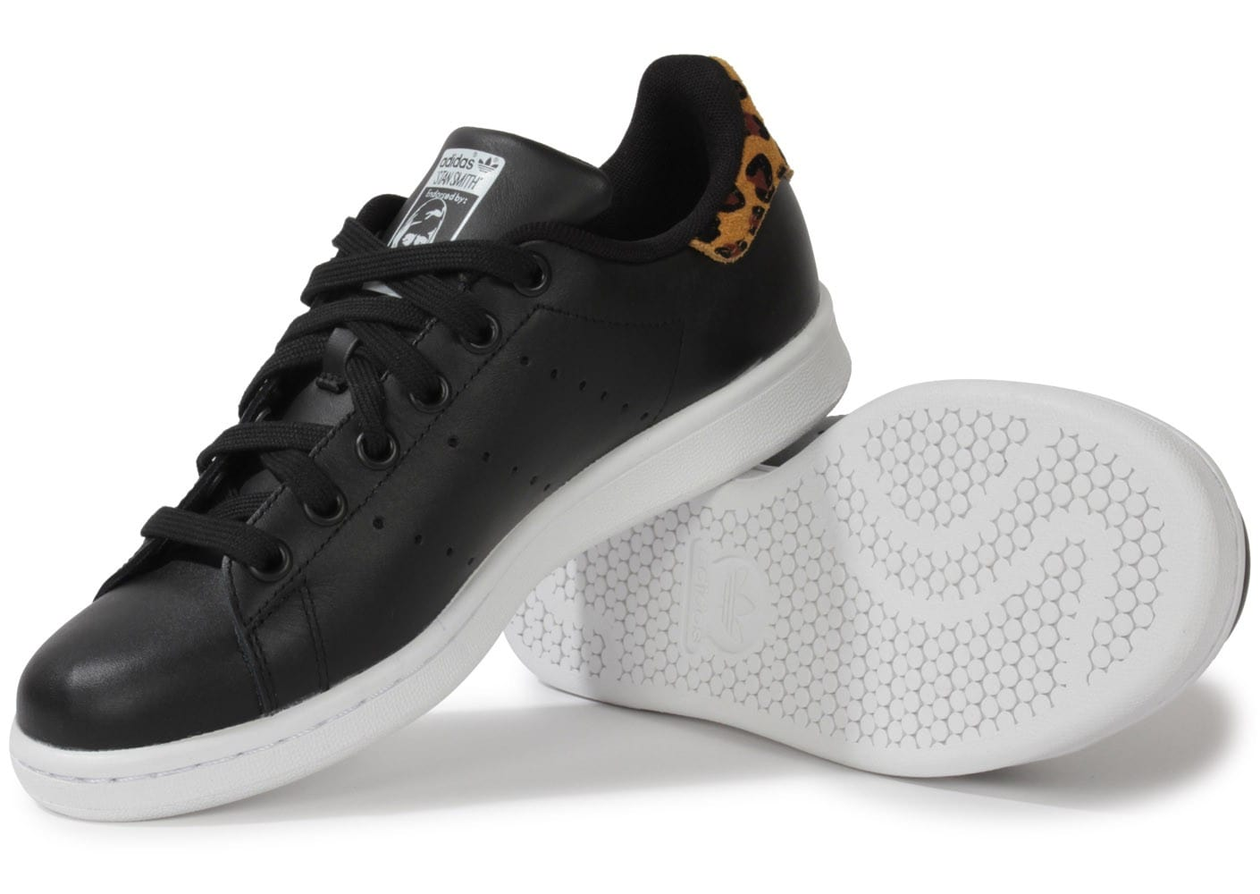 adidas Stan Smith Noire Animal Leopard Chaussures adidas