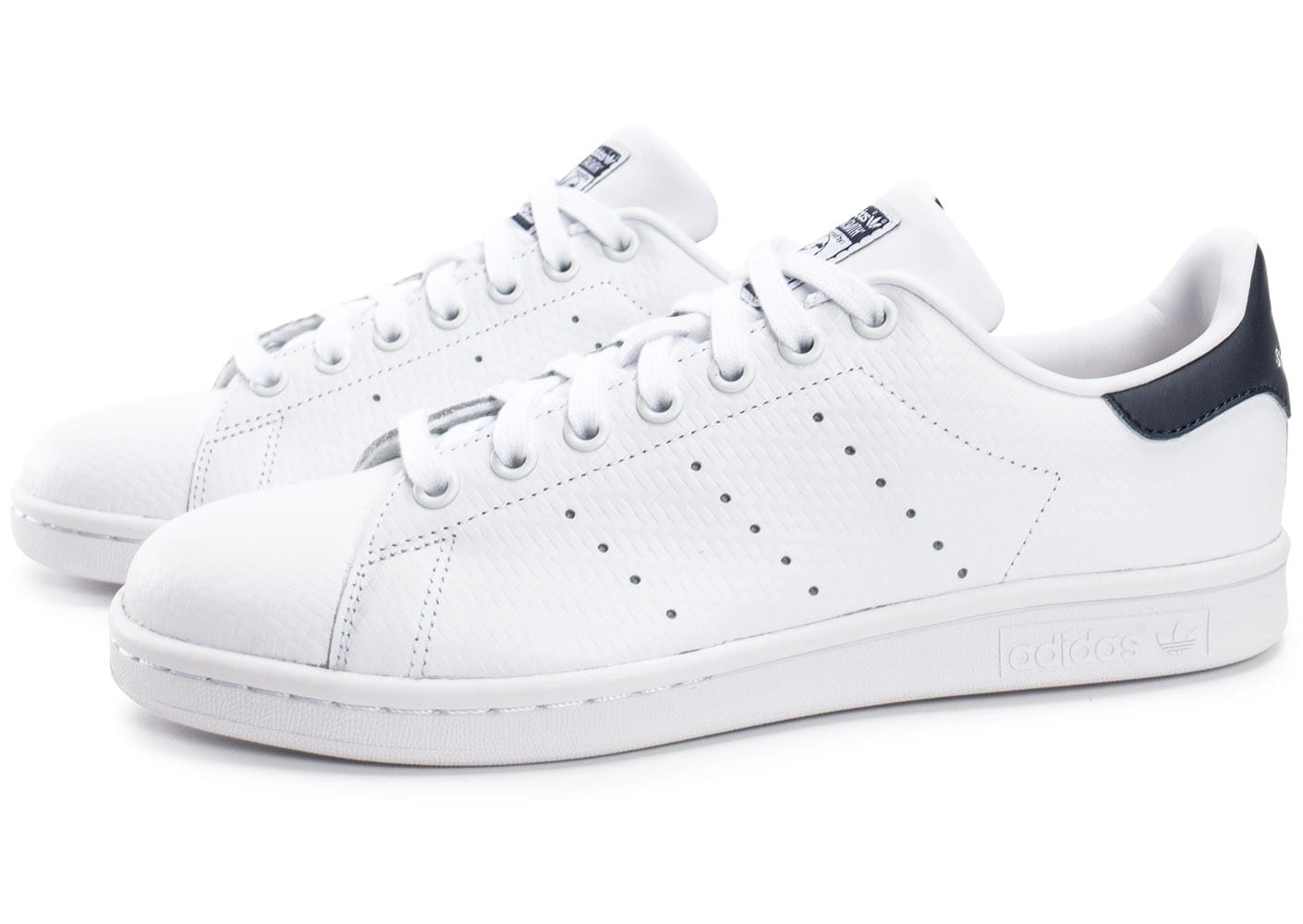 adidas Stan Smith Woven blanche et bleue - Chaussures ...