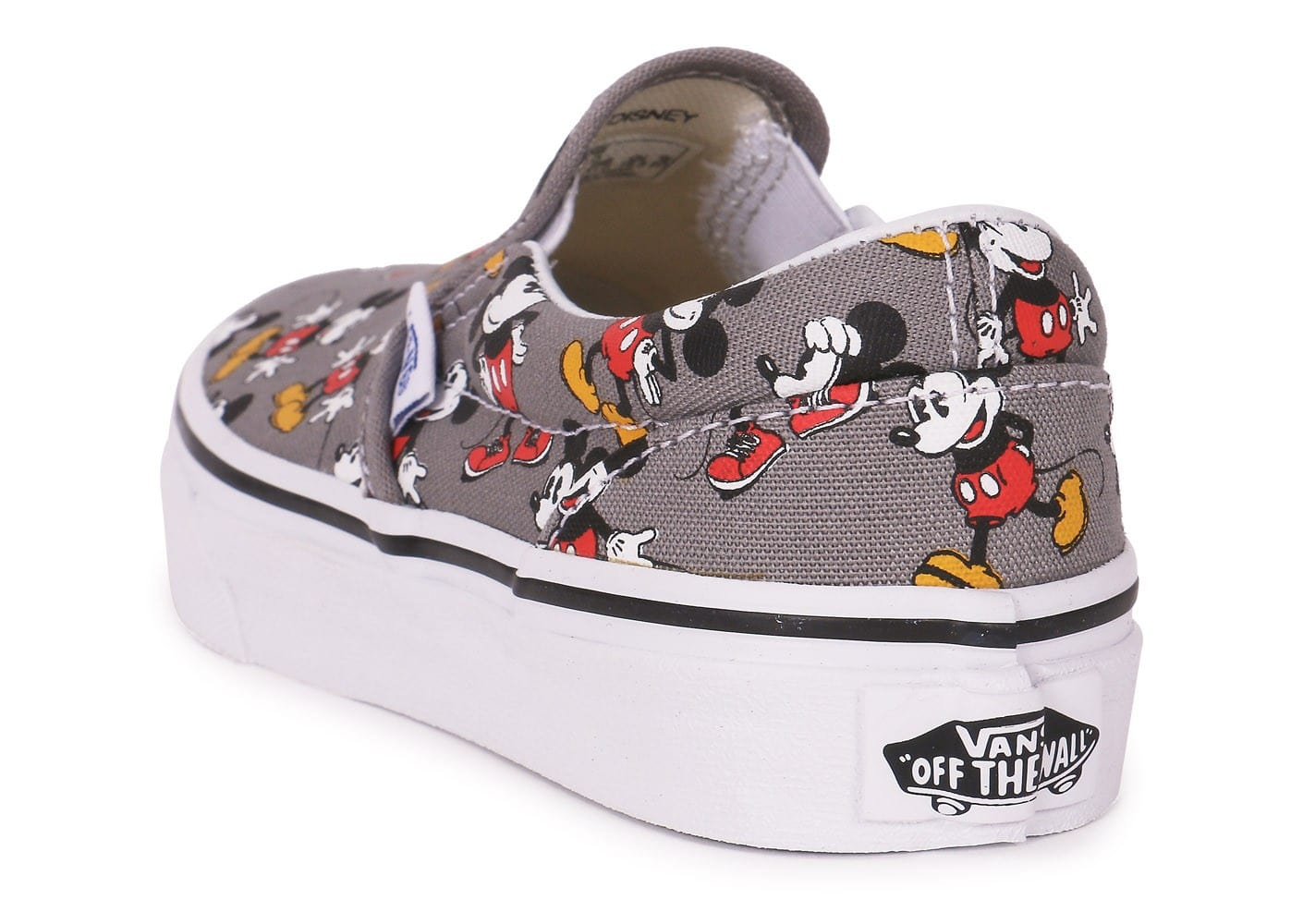 Enfant Grise Classic Slip Mickey On Vans Chaussures Disney tdhsrQ