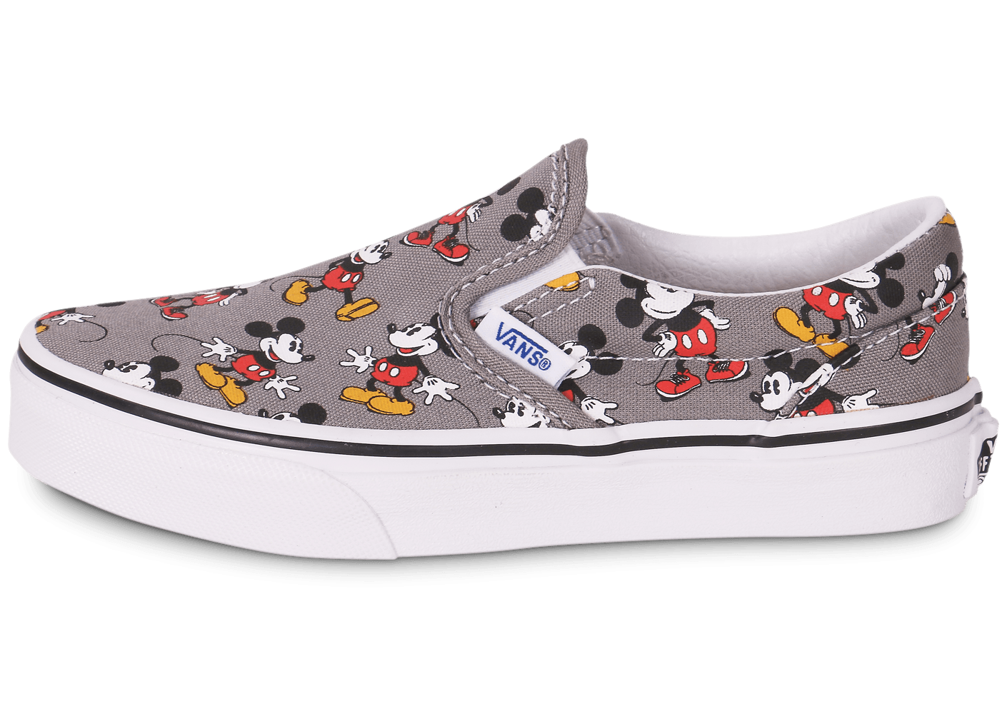 Vans Classic Slip on Disney Mickey Enfant Grise