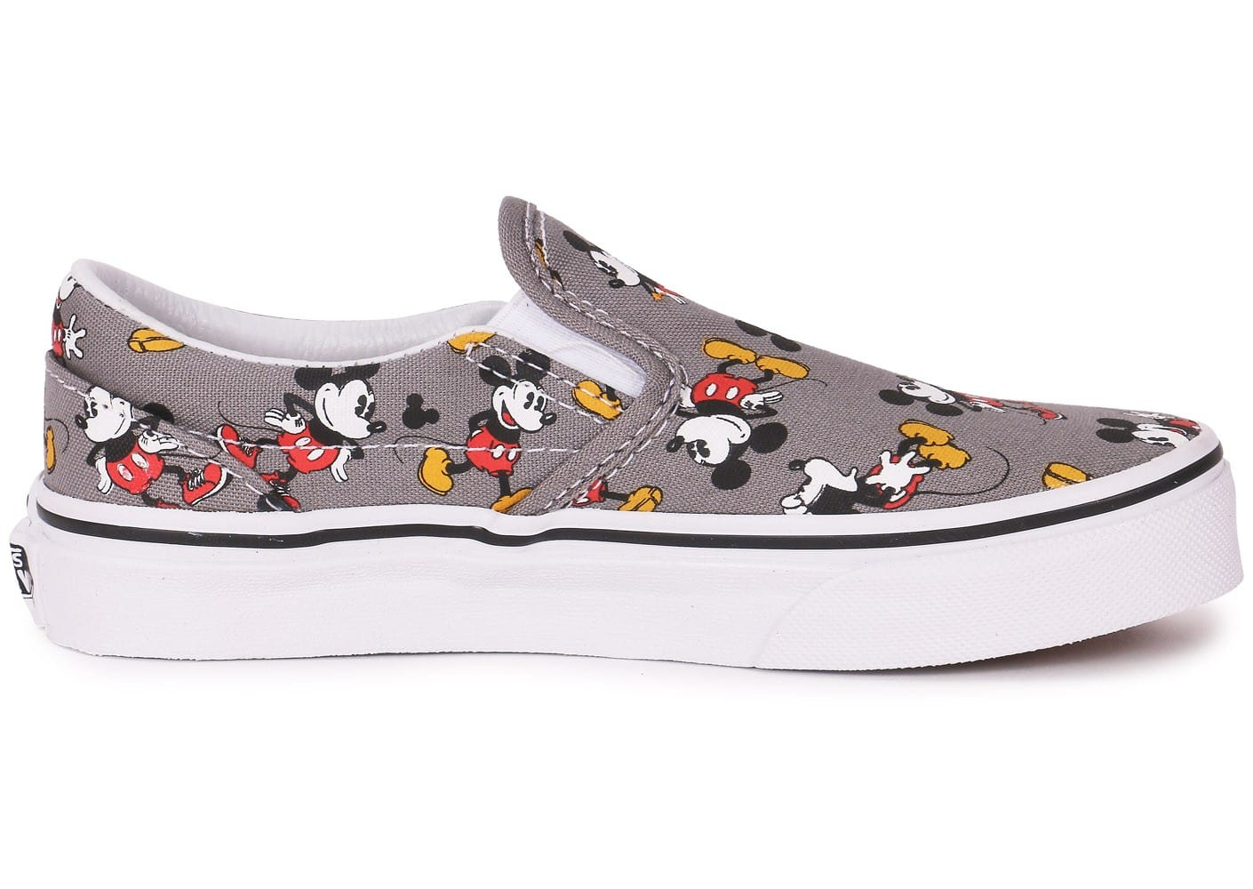 Vans Classic Slip on Disney Mickey Enfant Grise Chaussures