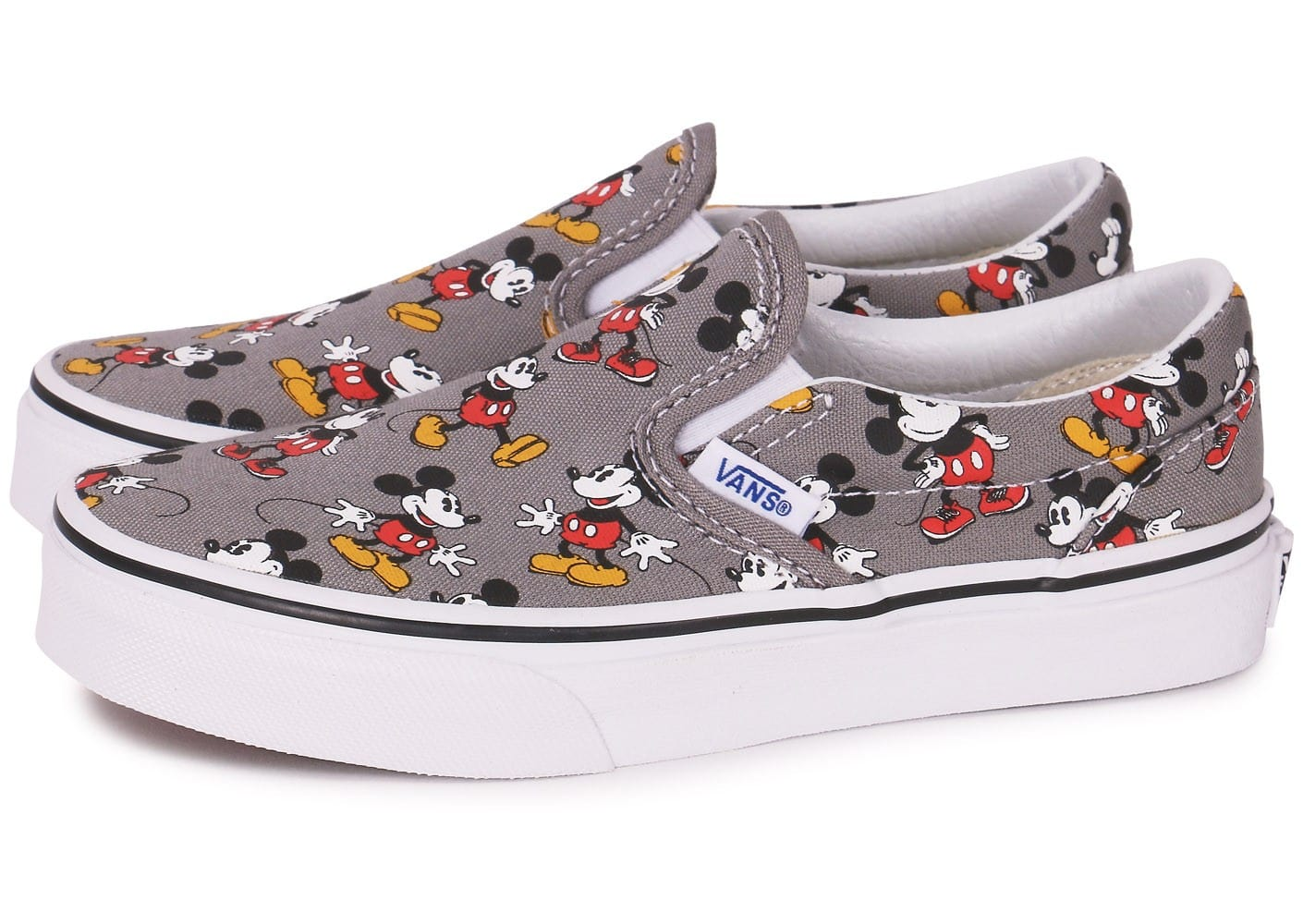 Chaussures Mickey Vans Slip Disney Grise On Classic Enfant qO4OF0Bw