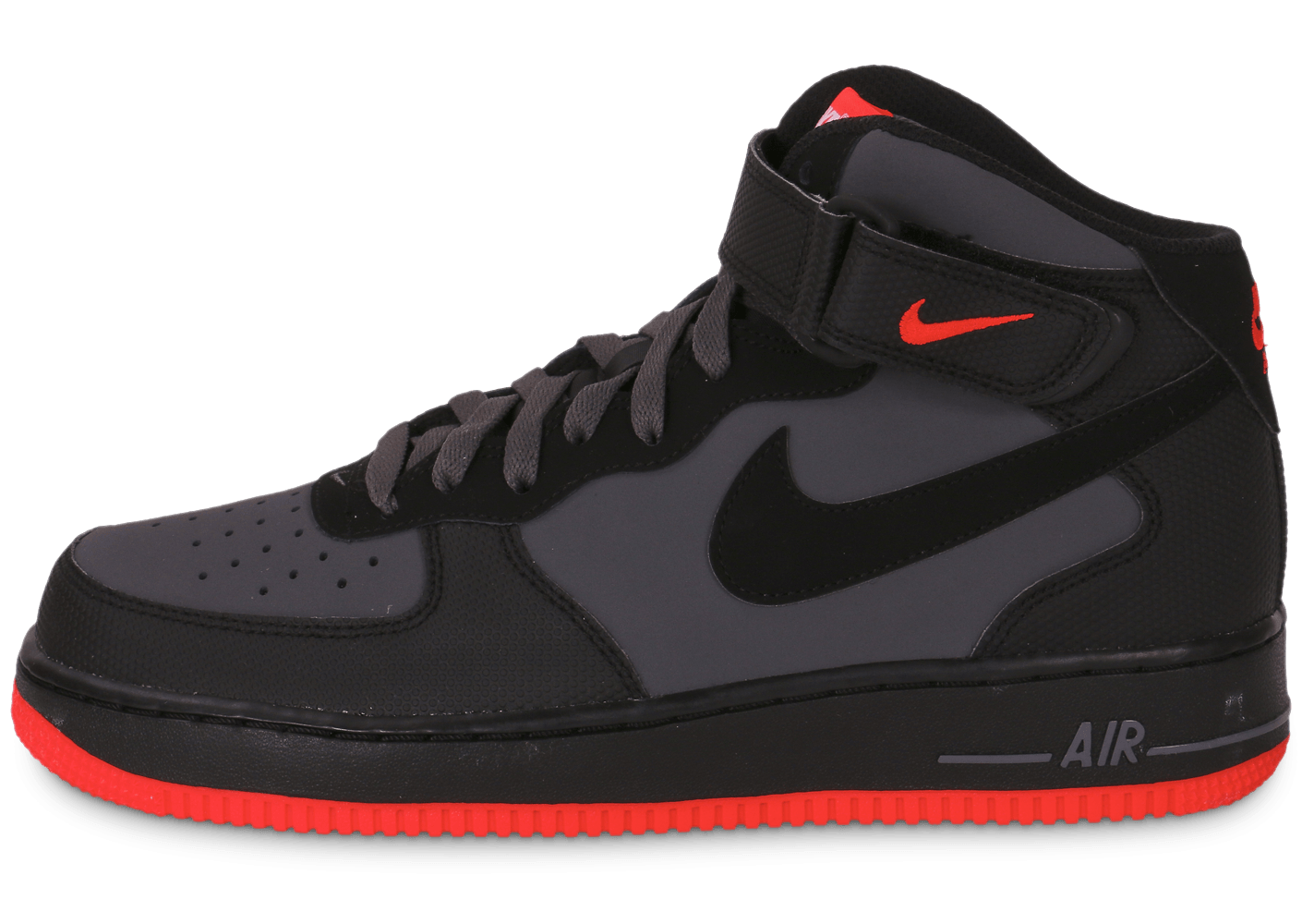 nike air force 1 mid 07 grise chaussures baskets homme chausport. Black Bedroom Furniture Sets. Home Design Ideas