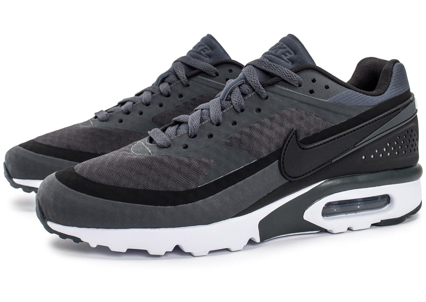 43 EU Chaussures Nike Air Max BW grises Fashion homme Geox Phyteam A Noir (Black
