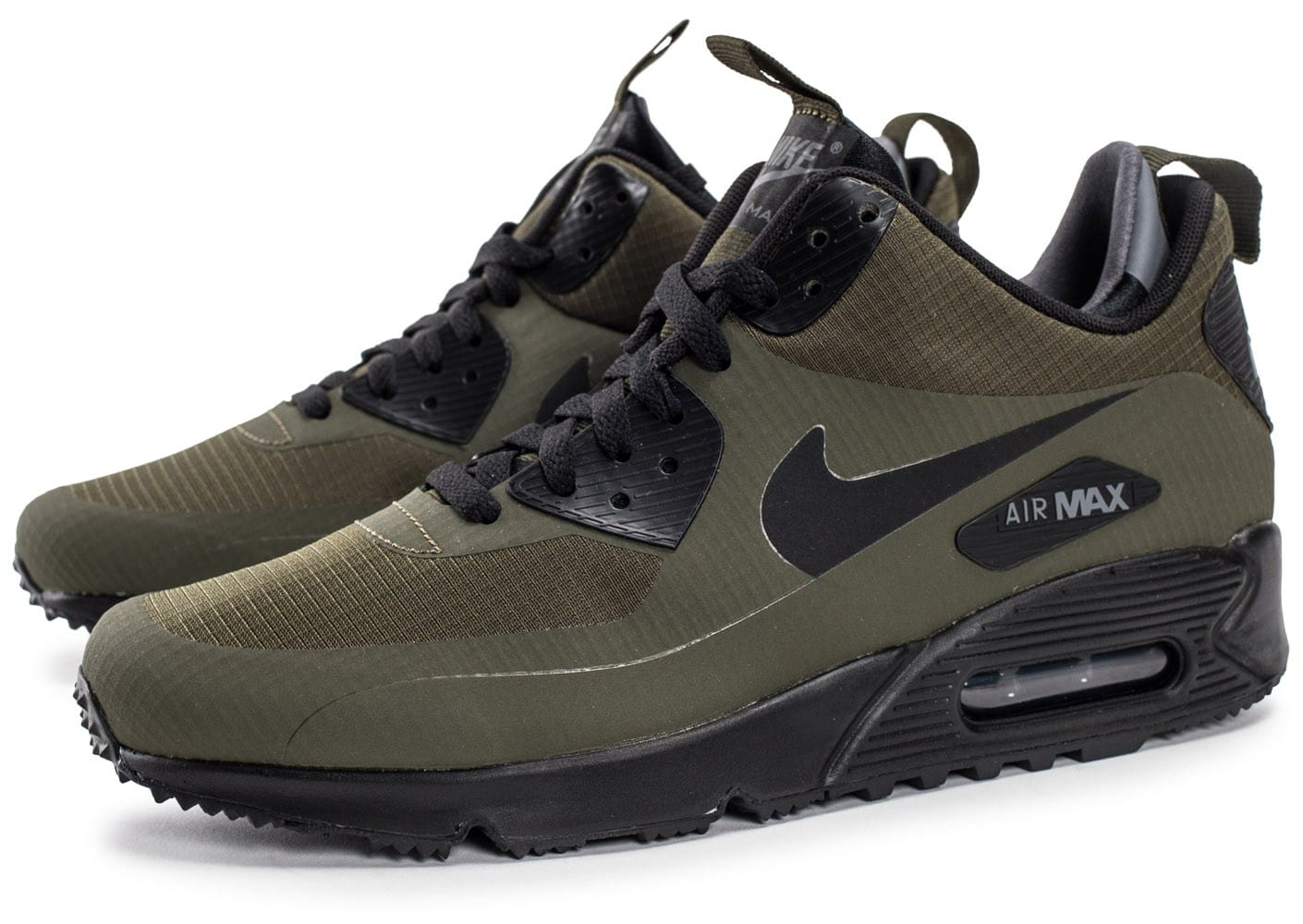 competitive price bd976 2caa5 Nike Air Max 90 Mid Winter Green - Chaussures Baskets homme ...