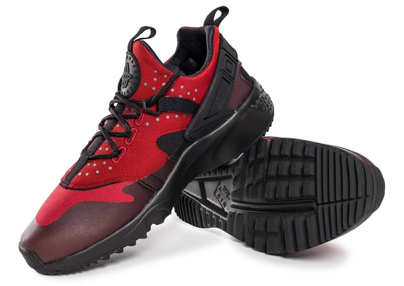 Nike Air Huarache Utility rouge - Chaussures Baskets homme ...