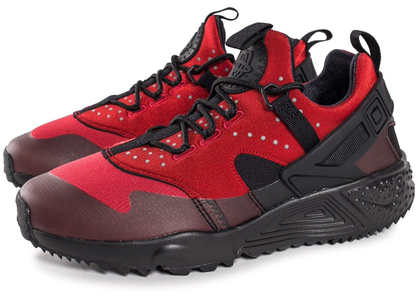 Nike Chaussures Air Huarache Utility Rouge Chaussures Nike Baskets Homme Chausport 231943