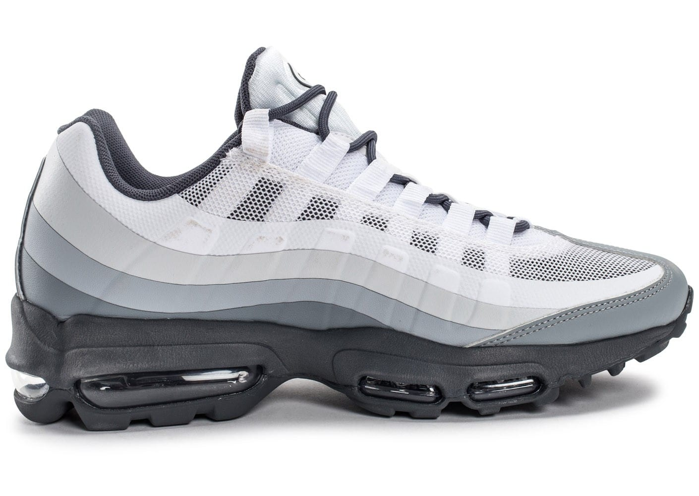 nike air max 95 ultra essential blanche et grise chaussures baskets homme chausport. Black Bedroom Furniture Sets. Home Design Ideas