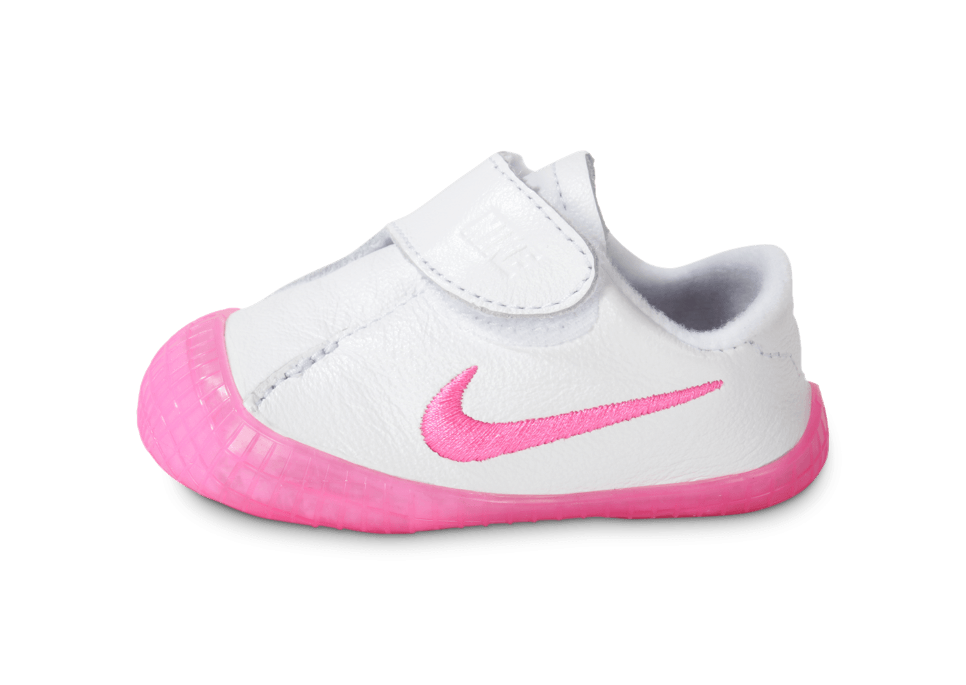 new arrival 33344 00610 Nike Crib Waffle Bébé Blanche Et Rose - Chaussures Chaussures - Chausport