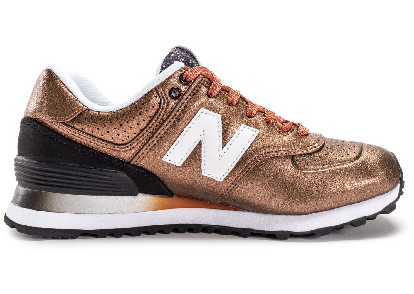 nouveau style e132f 8d9a1 New Balance WL574 RAB Bronze - Chaussures Chaussures - Chausport
