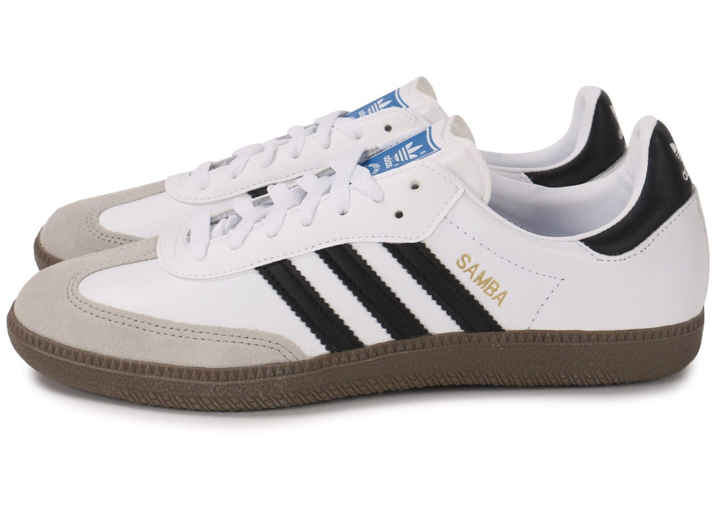 casual shoes fast delivery detailed pictures adidas Samba Cuir blanche - Chaussures Baskets homme - Chausport