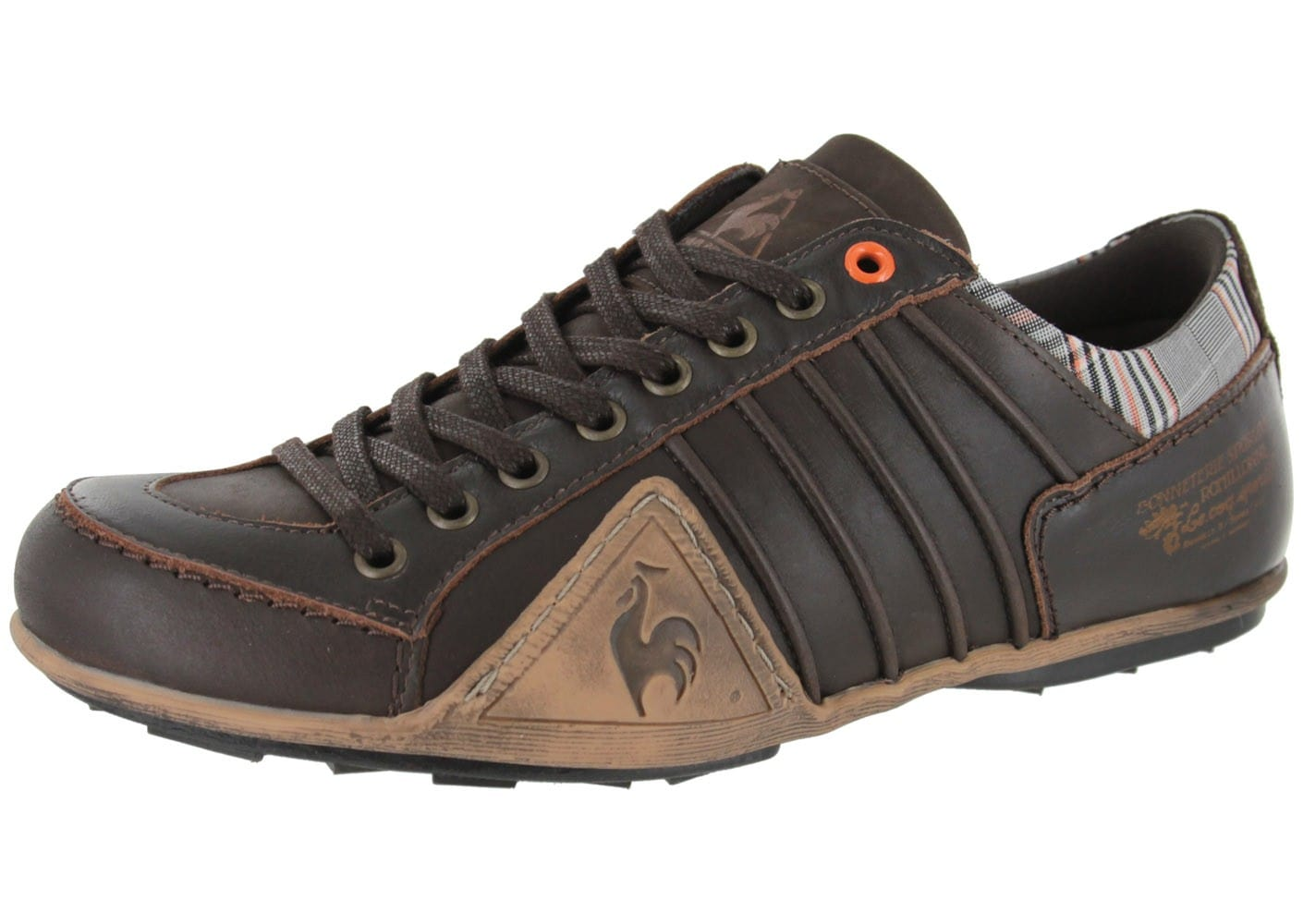 le coq sportif buffalo cuir reglisse chaussures baskets homme chausport. Black Bedroom Furniture Sets. Home Design Ideas