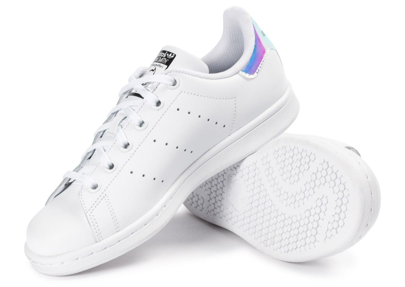 Chausport Iridescente Adidas Stan Chaussures Smith Blanche tCQodshxBr
