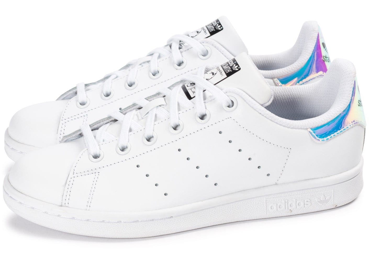 Adidas Stan Chaussures Smith Iridescente Blanche Chausport QdtCxBhrso