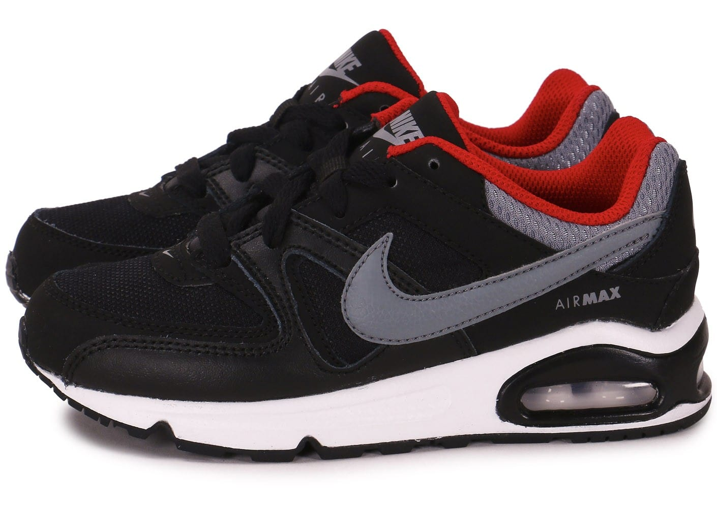 Nike Air Max Command chaussures noir gris rouge SO55408913