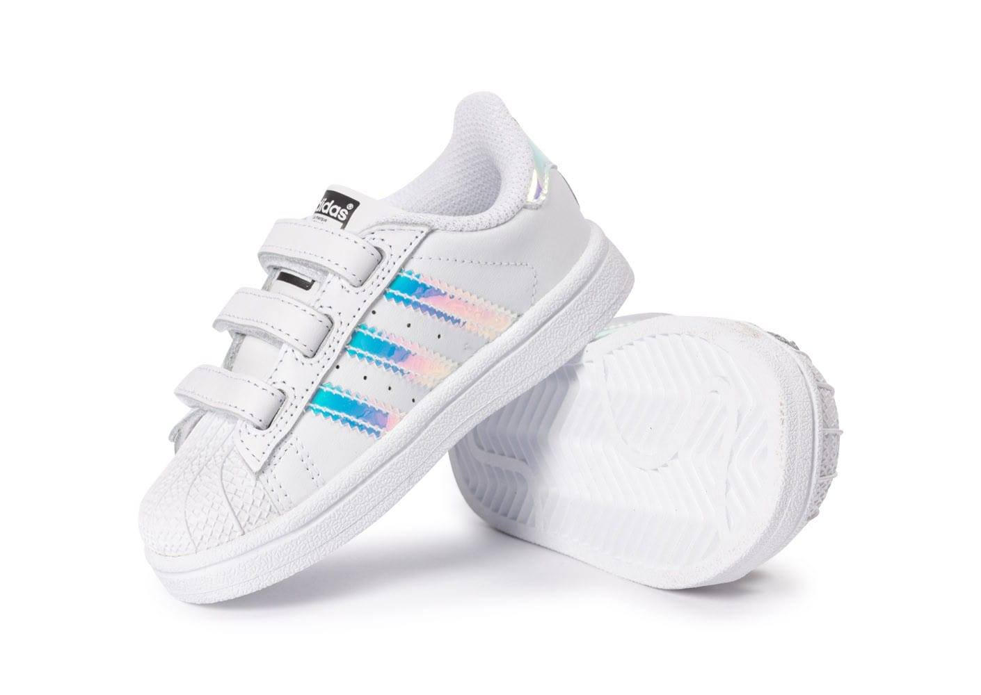 adidas superstar blanche irisé