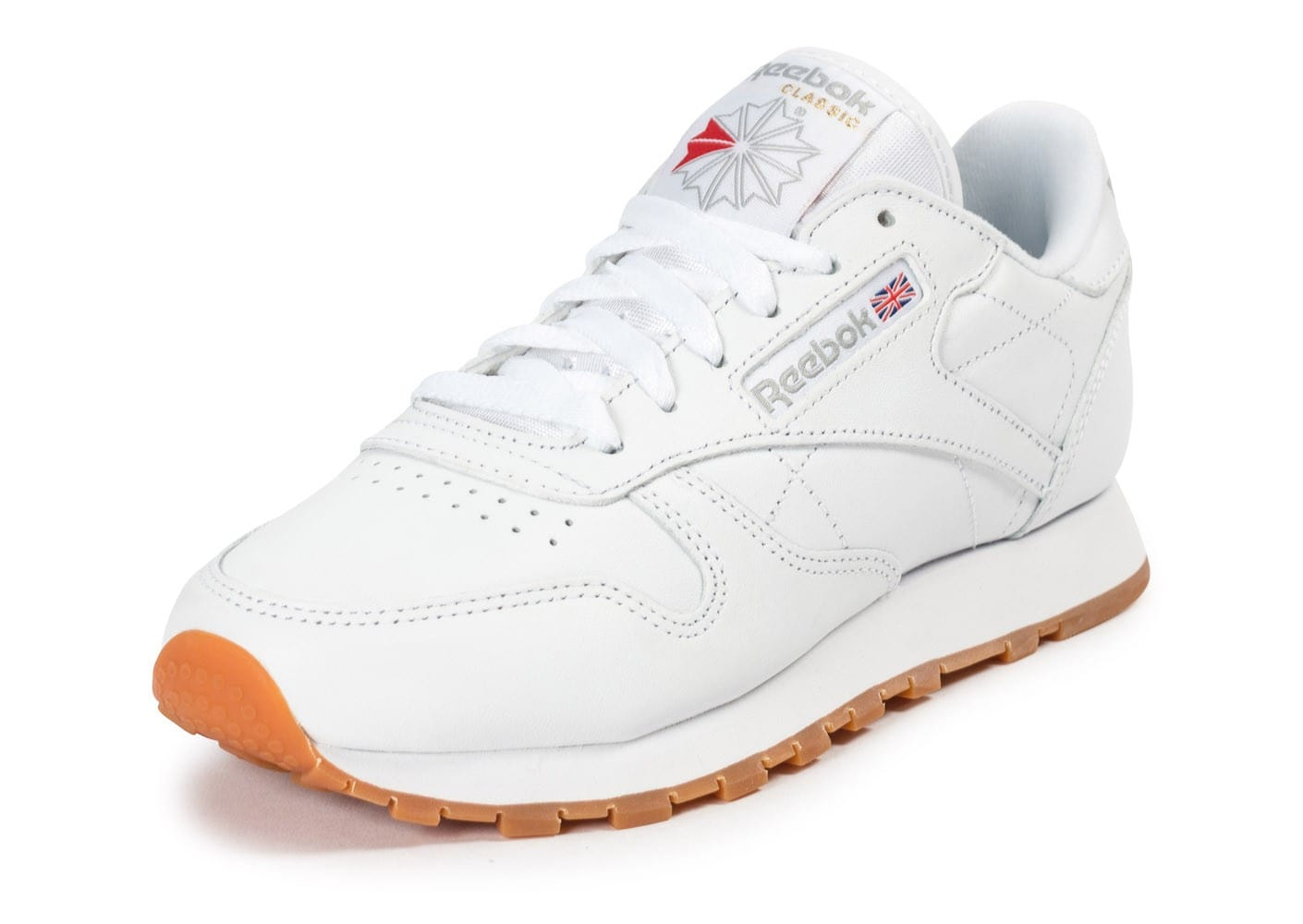 432b3ac1d39e6 Reebok Classic Leather W Gum blanche - Chaussures Baskets femme ...