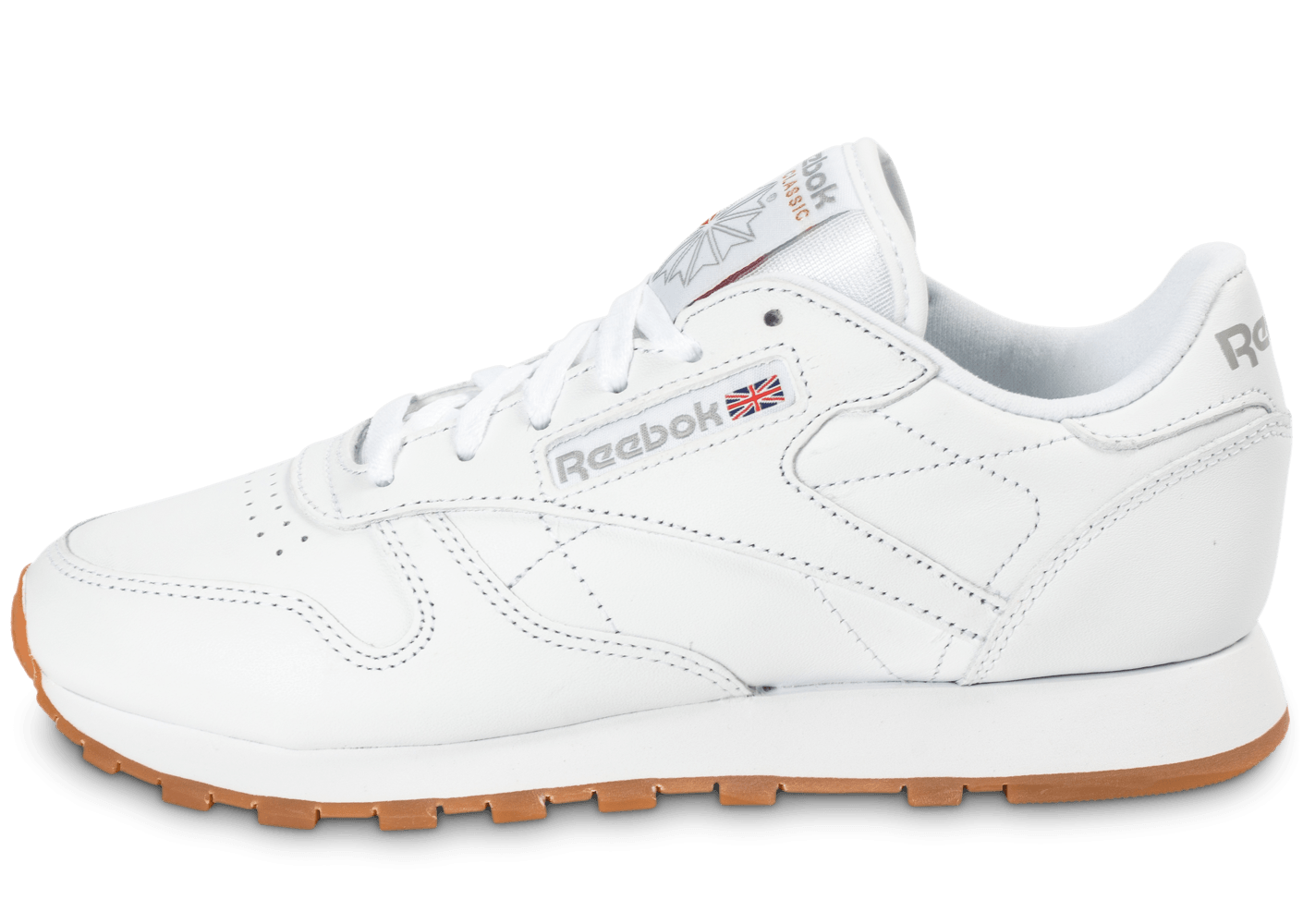 b399b06763422 Reebok Classic Leather W Gum blanche - Chaussures Baskets femme - Chausport