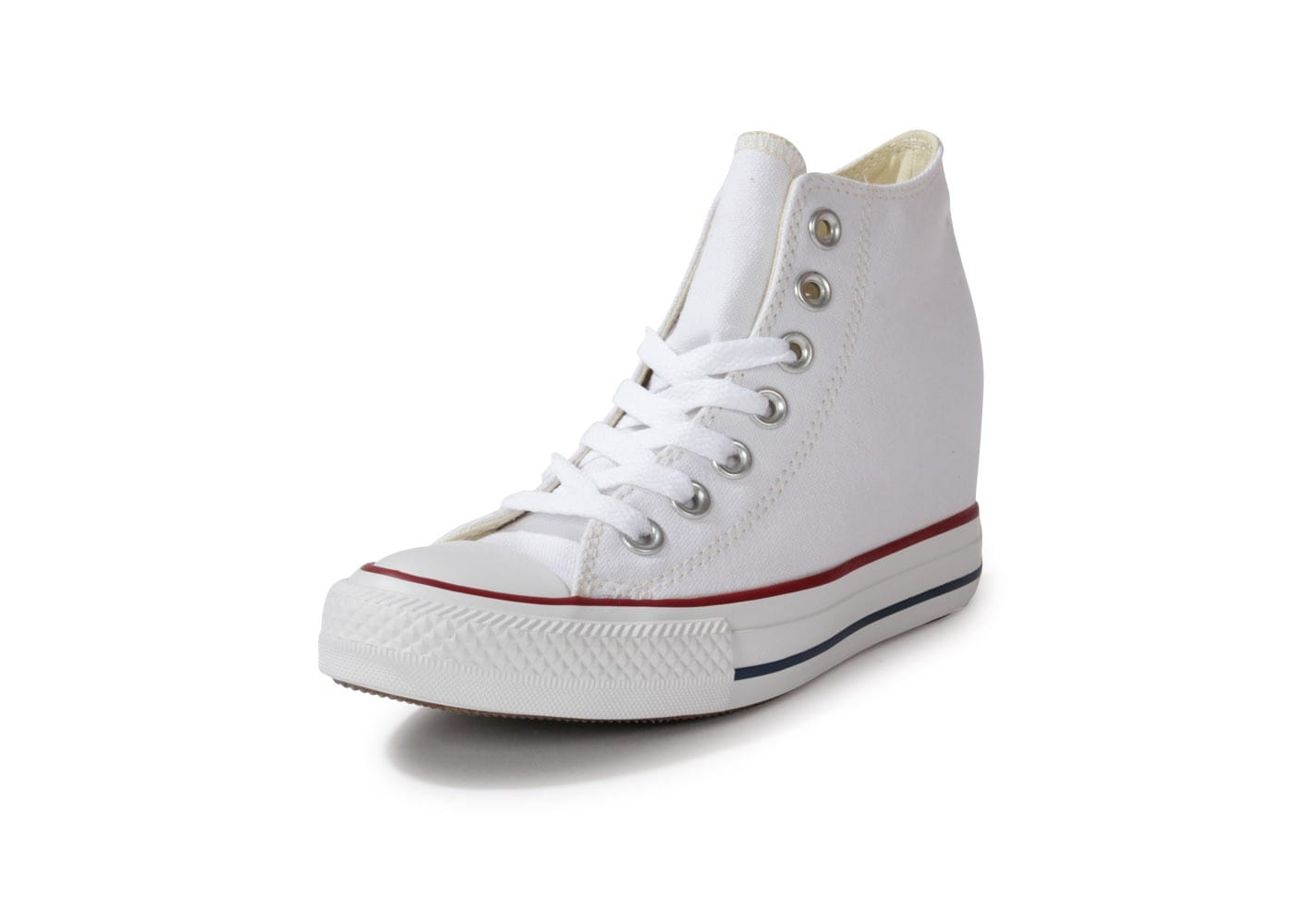 ce413f00317bb ... Chaussures Converse Chuck Taylor All-star Compensée Blanche vue avant  ...