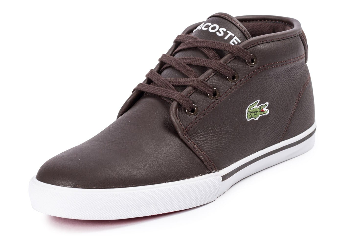 info for 1d968 3eede Marron Leather Chausport Homme Chaussures Ampthill Lacoste Baskets aqCAwW7