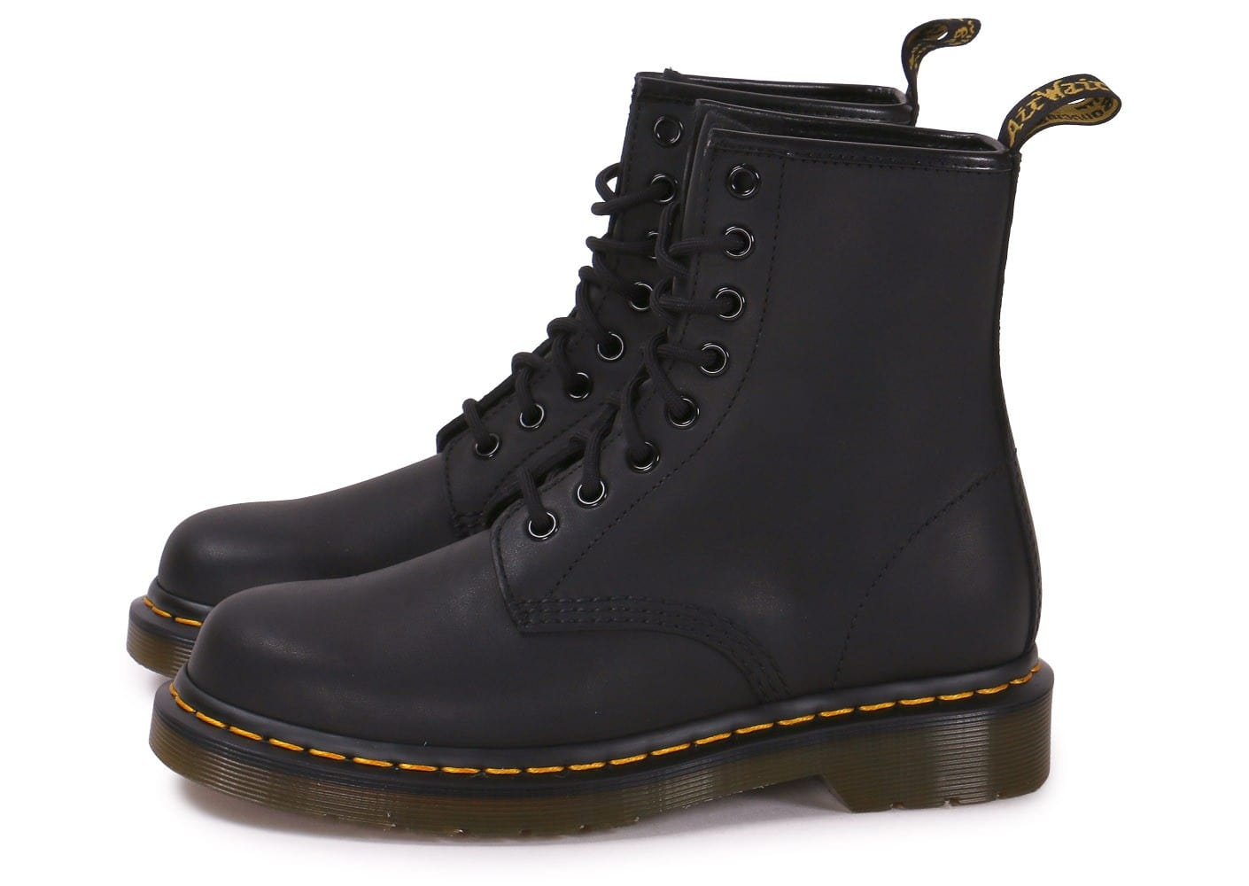 Dr Martens Chaussures Chausport Cuir Noir Gras 1460 m8nwP0yvNO