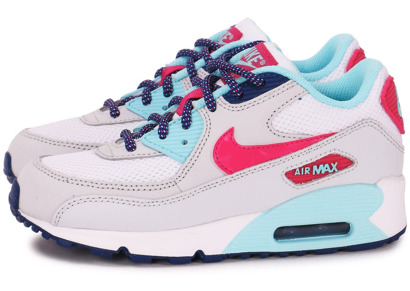 nike air max 90 mesh ps blanc et rose chaussures chaussures chausport. Black Bedroom Furniture Sets. Home Design Ideas