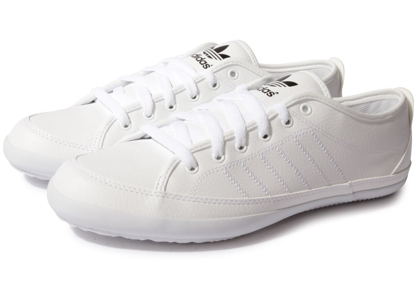 adidas Nizza Remodel Blanche - Chaussures Baskets homme ...