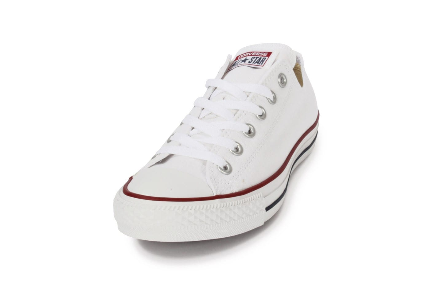 huge selection of 99f9c d72aa ... Chaussures Converse Chuck Taylor All Star low blanche vue avant ...