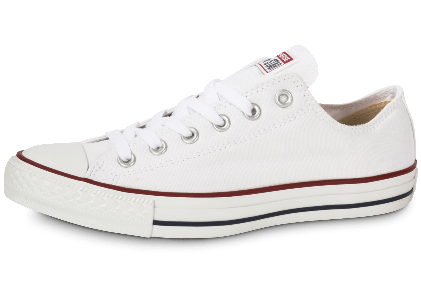 0f7126317a90e Converse Chuck Taylor All Star low blanche - Chaussures Baskets femme -  Chausport