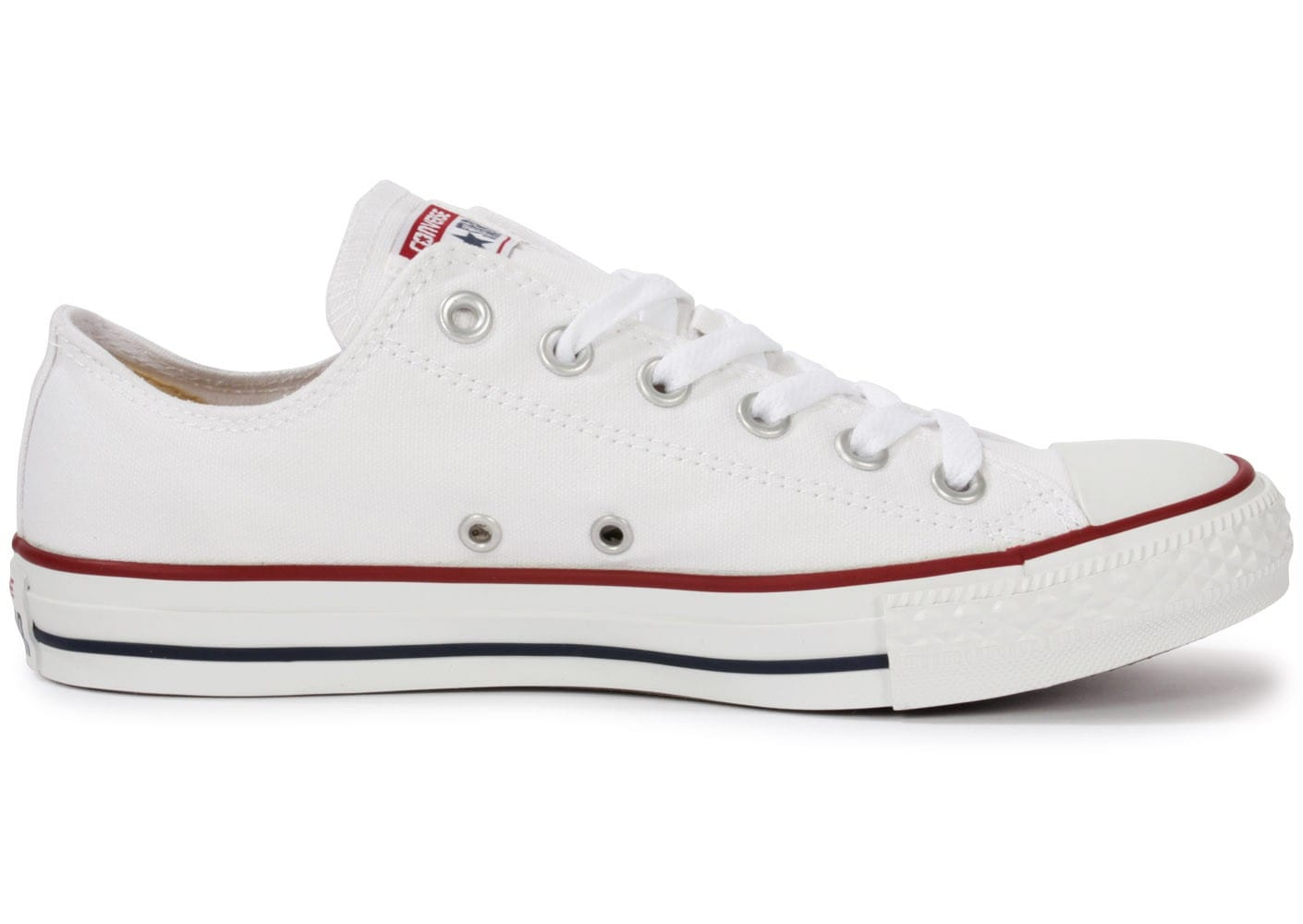 9f5b5e7255338 ... Chaussures Converse Chuck Taylor All Star low blanche vue dessous ...