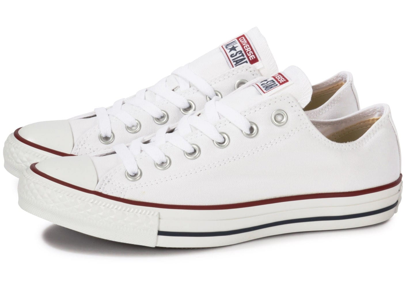 Converse Chuck Taylor All Star Low Blanc - Chaussures Baskets basses Femme