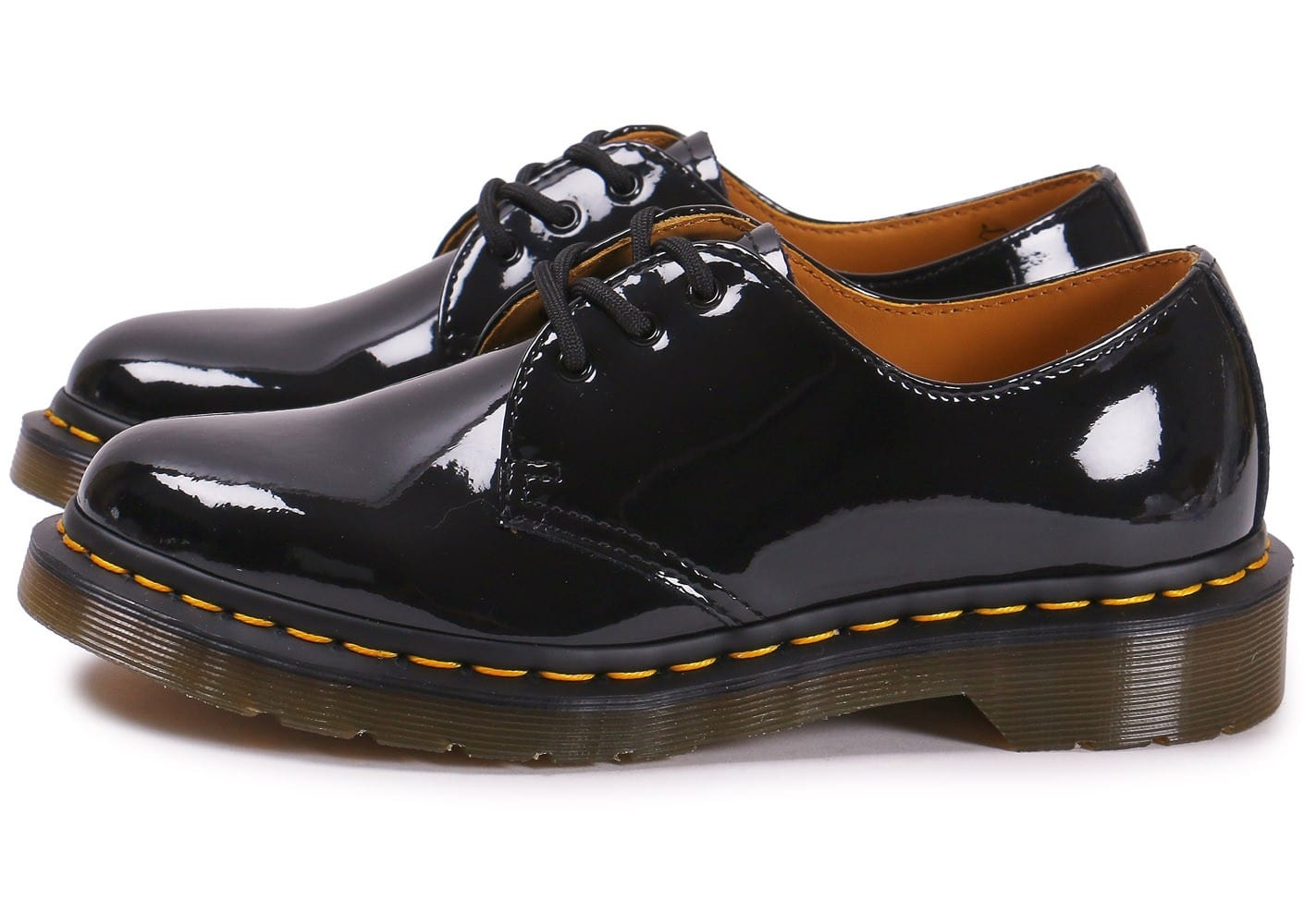 dr martens 1461 w vernis noire chaussures black friday chausport. Black Bedroom Furniture Sets. Home Design Ideas