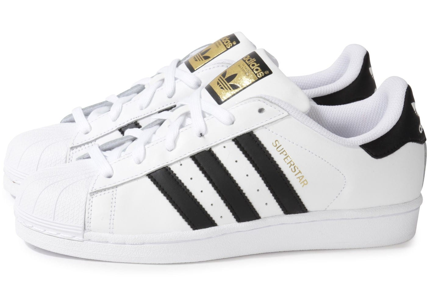 adidas Superstar Foundation blanc noir - Chaussures Basket ...