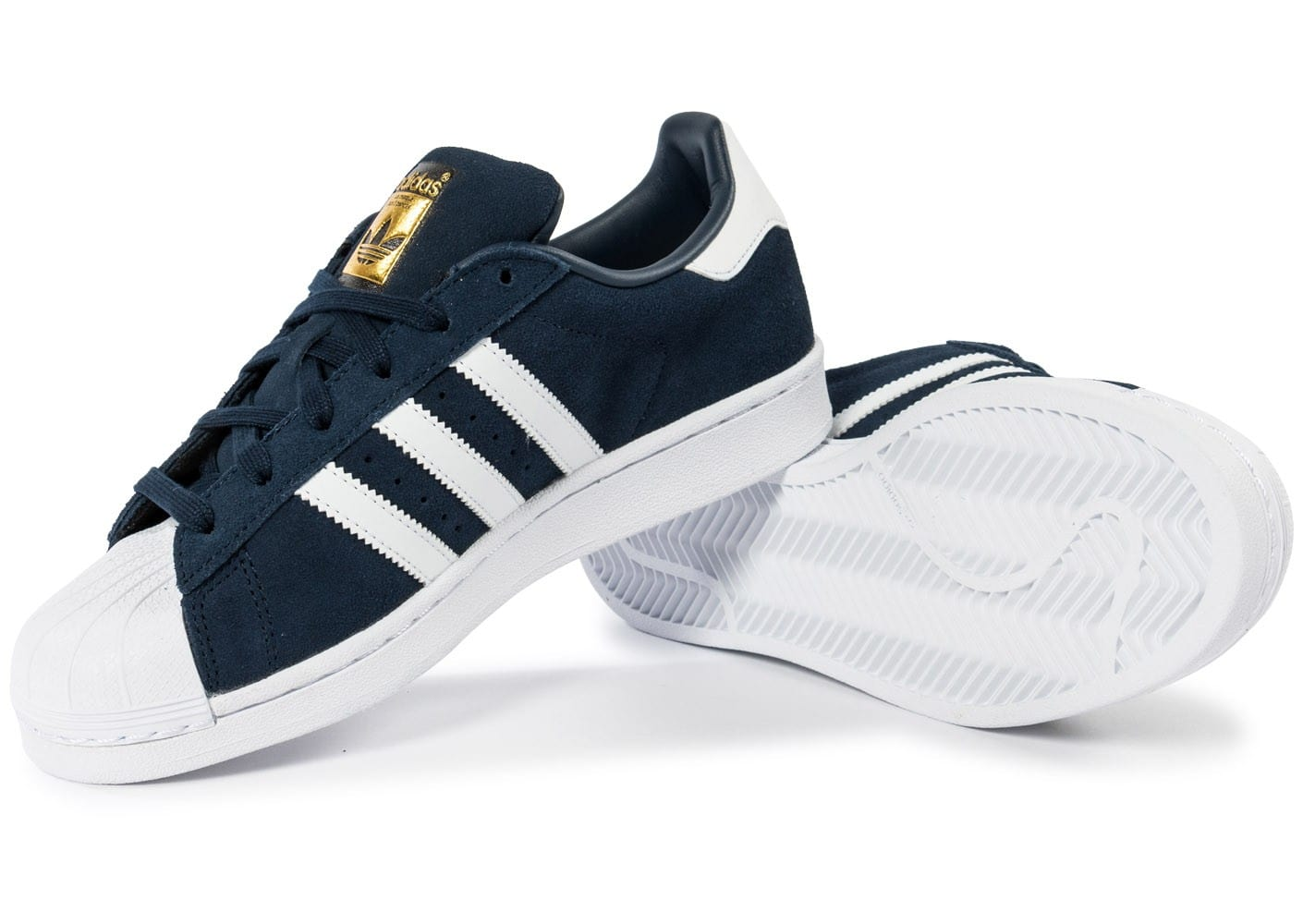 design de qualité e06a3 0223e adidas Superstar Suede Junior bleu marine - Chaussures ...