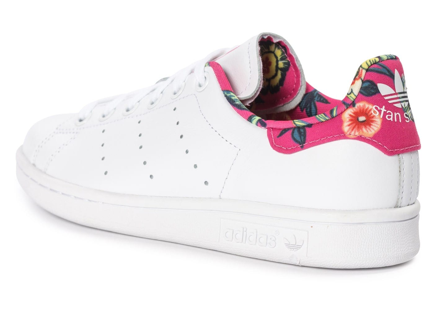 adidas Stan Smith Floral blanche Chaussures adidas Chausport
