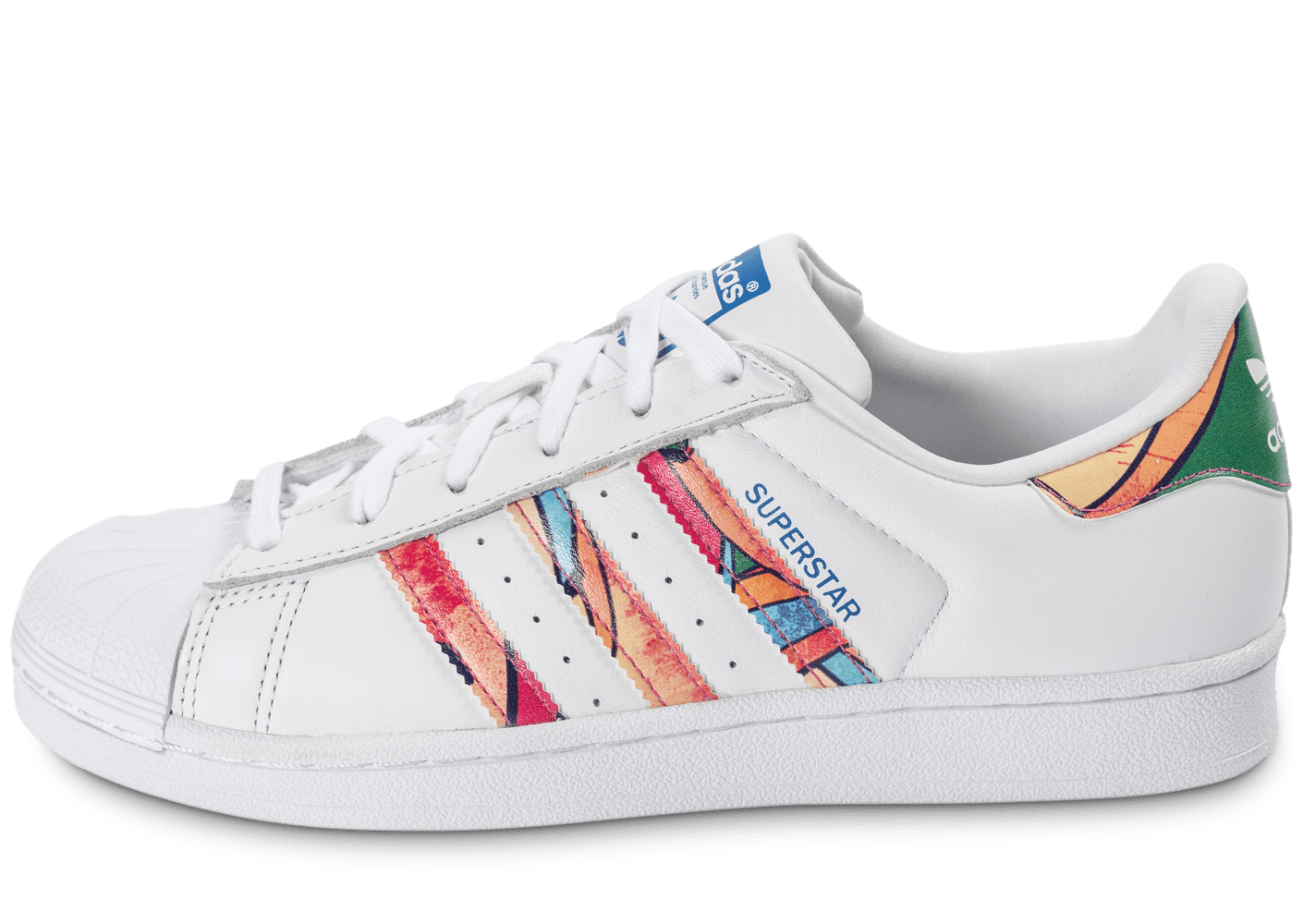 huge discount 9f614 9510e adidas Superstar Tropical blanche