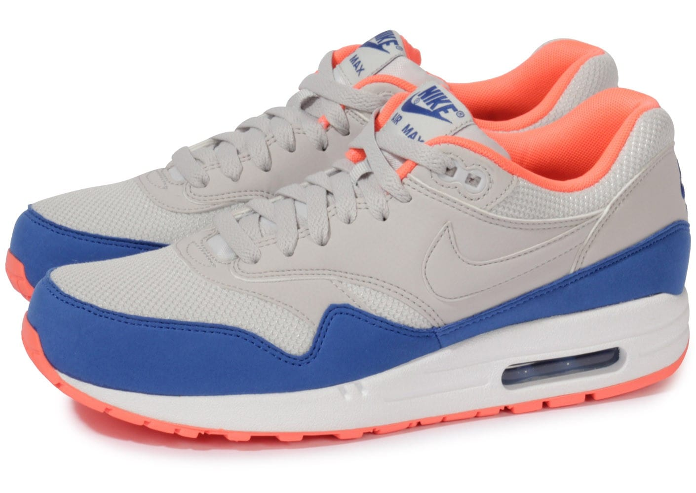 Nike Grise Air Max 1 Essential Grise Nike Chaussures Baskets Homme Chausport 352c58