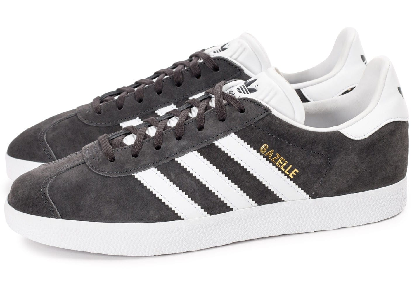 adidas Gazelle Anthracite Chaussures Baskets homme Chausport