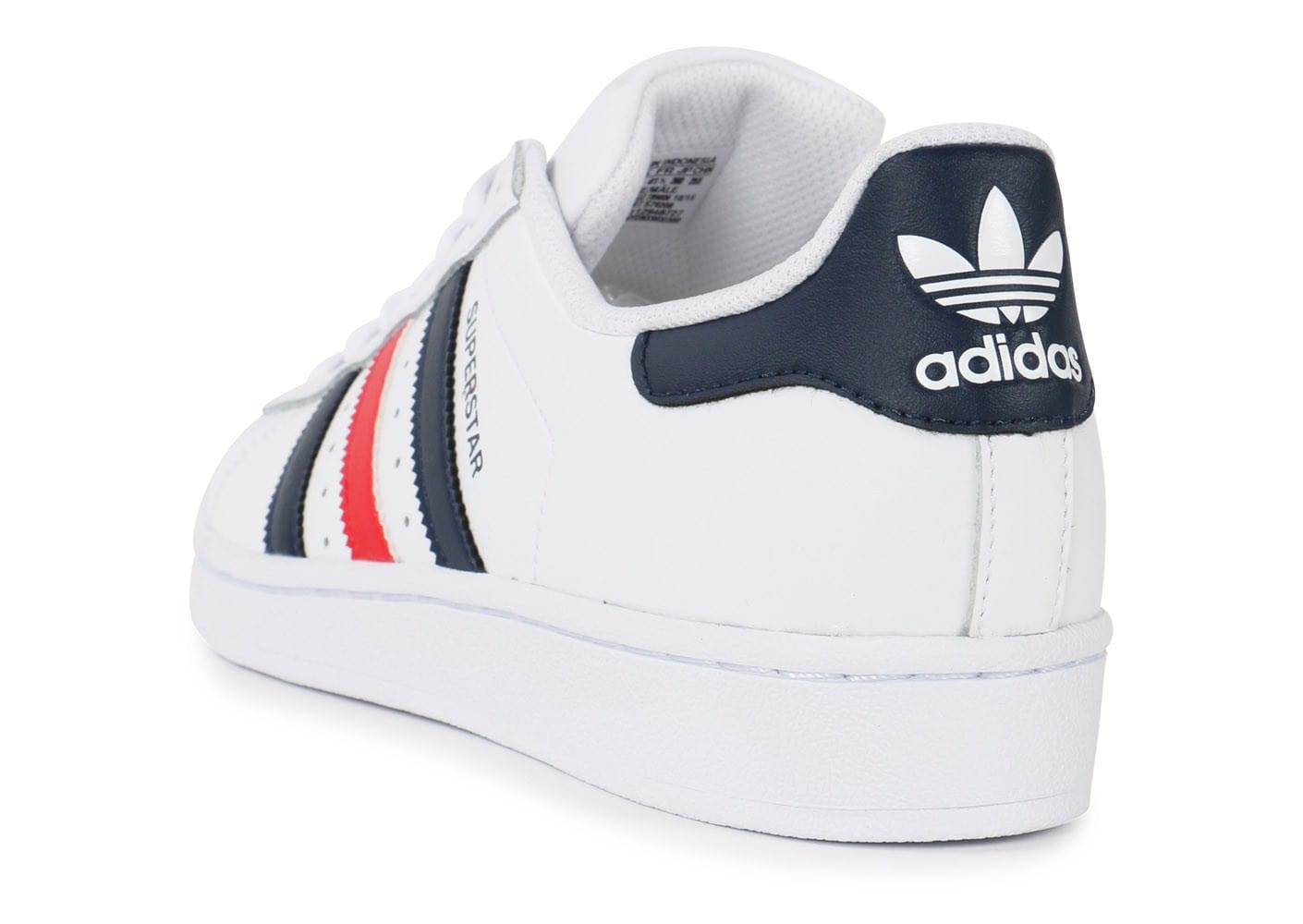 Chaussures Blanc Foundation Adidas Superstar Bleu Rouge Baskets K1JFcuT3l