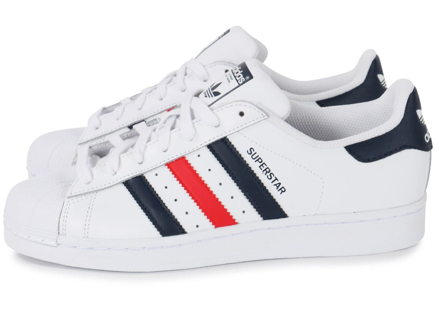 adidas Superstar Foundation bleu blanc rouge - Chaussures ...