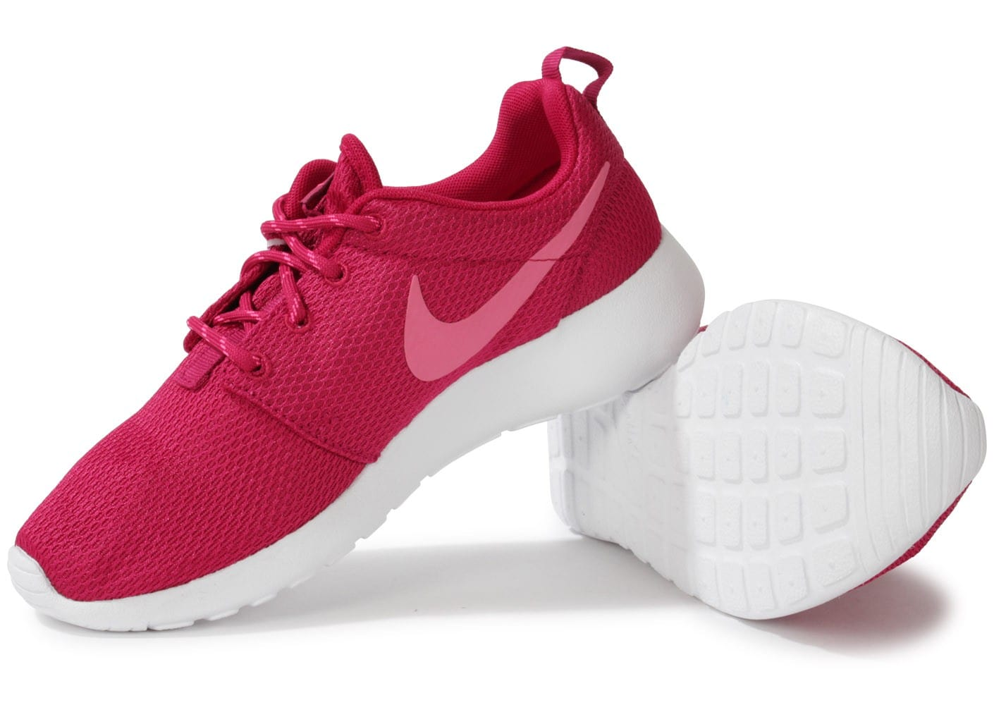 ... Chaussures Nike Roshe Run Rose vue intérieure ...