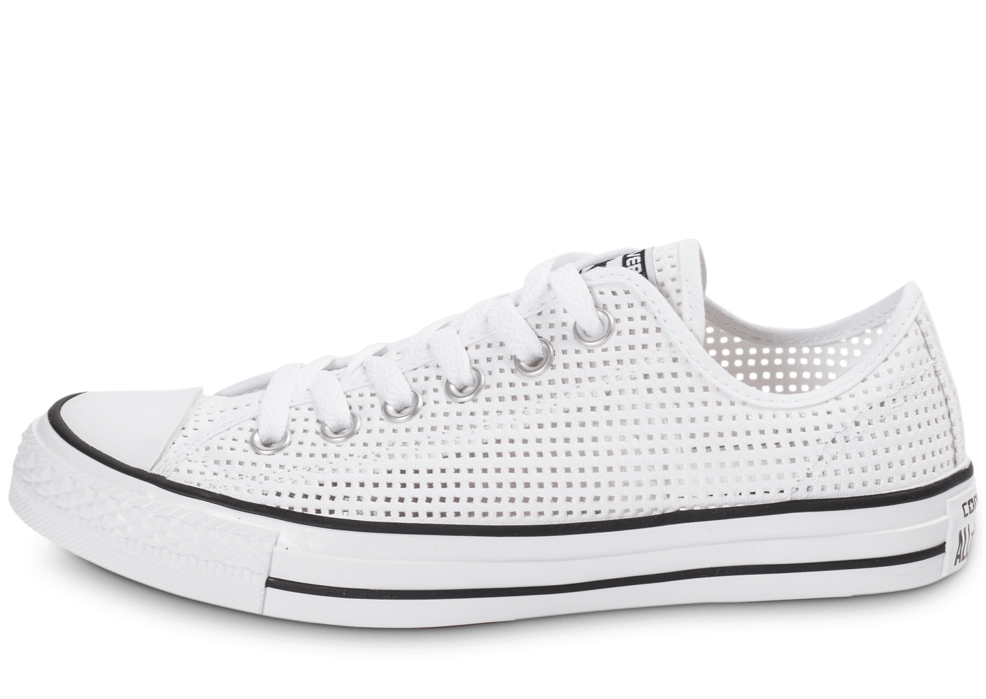 5f4f553b8d1 Converse Chuck Taylor All-Star Perf OX blanche - Chaussures Chaussures -  Chausport