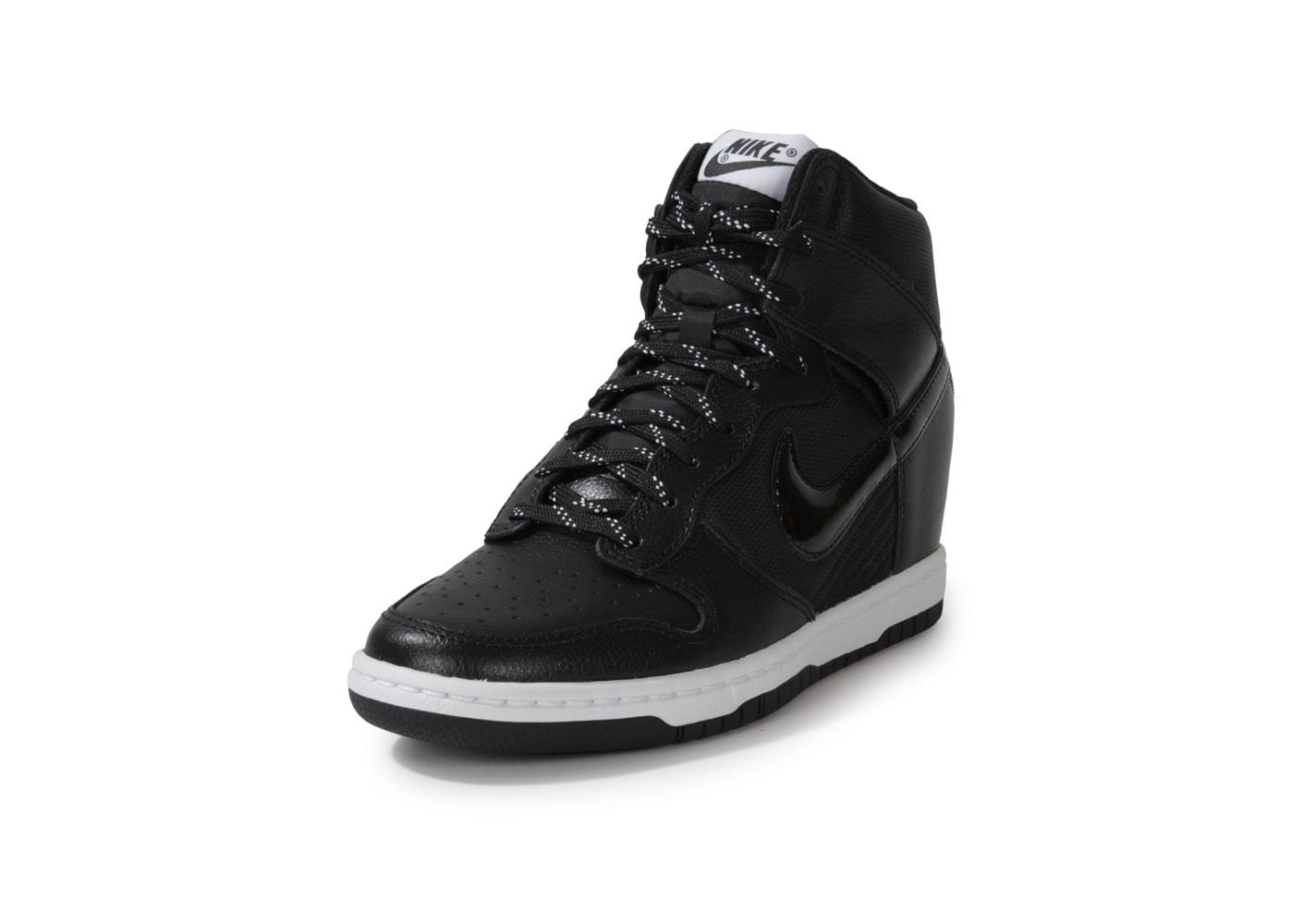new styles 993a1 e80fb ... reduced chaussures nike dunk sky hi essential noire vue avant b556f  7fb65