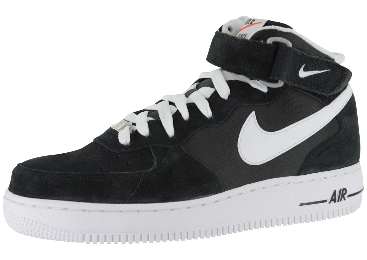 Nike Air Force 1 Mid Blazer Noire - Chaussures Baskets homme ...