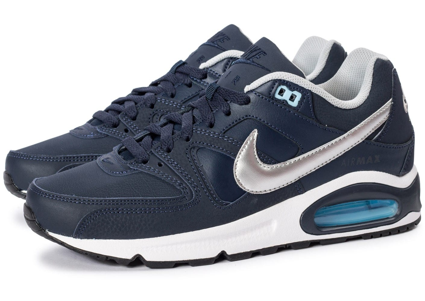 finest selection new high sneakers for cheap Nike Air Max Command bleu et argent - Chaussures Baskets ...
